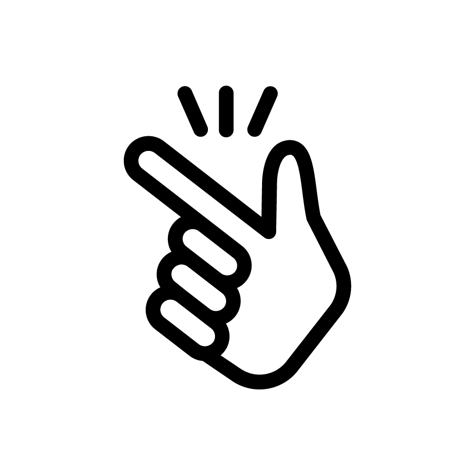 Icon of hand snapping