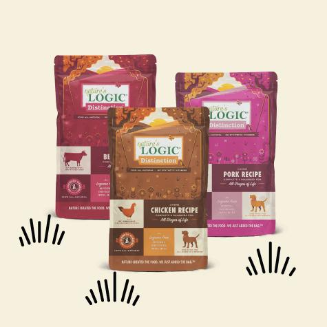 Bags of Nature's Logic dog food