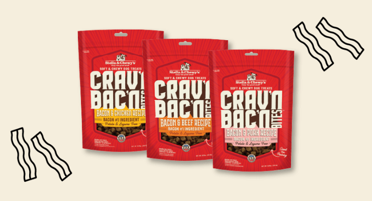 Stella and Chewys cravn bacon dog treats