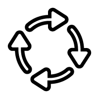 Icon of circular arrows