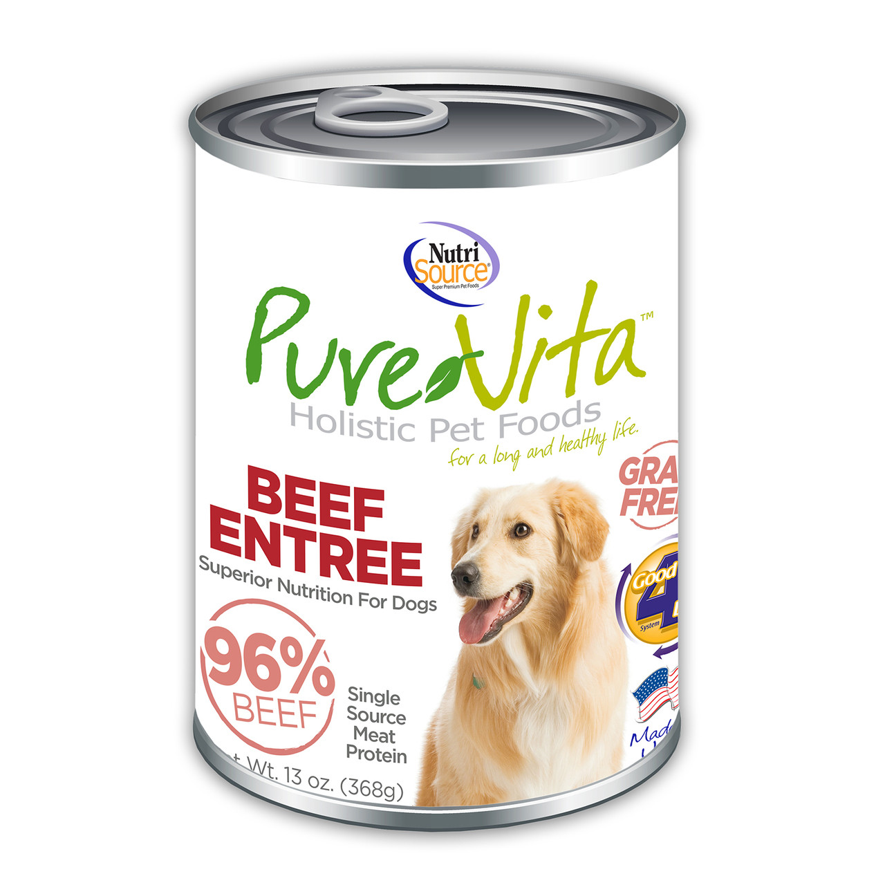 click here to shop PureVita Beef Entree Canned Dog Food
