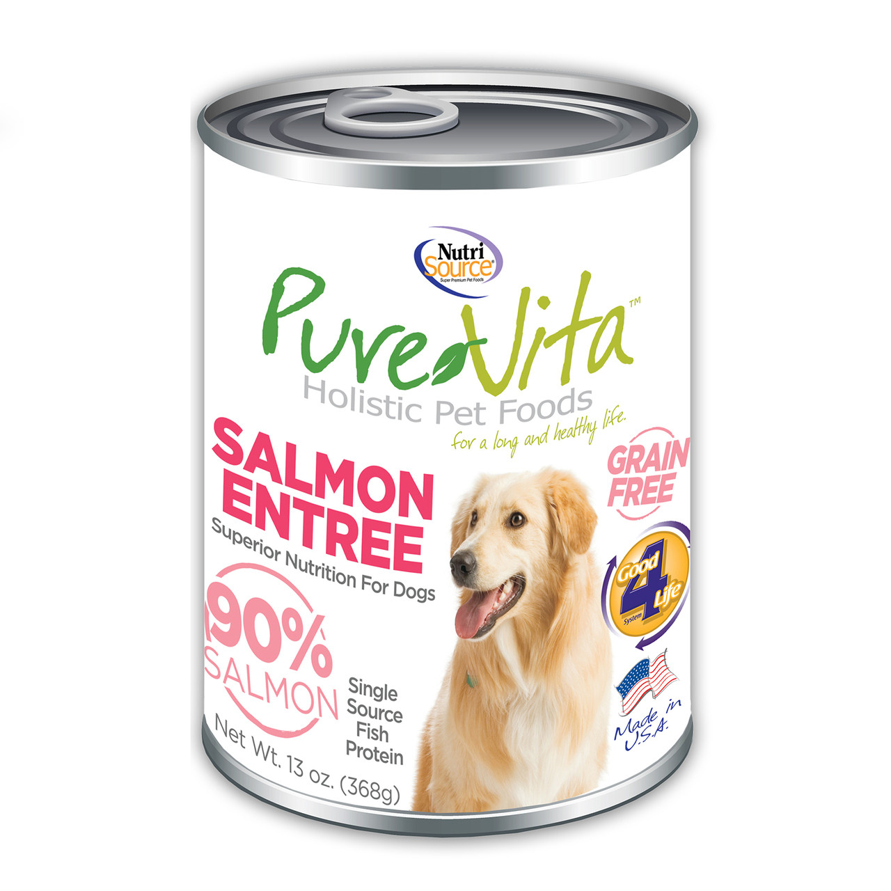 click here to shop PureVita Salmon Entree Canned Dog Food