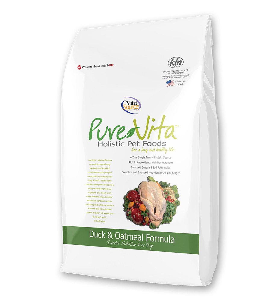 click here to shop PureVita Duck & Oatmeal Dry Dog Food