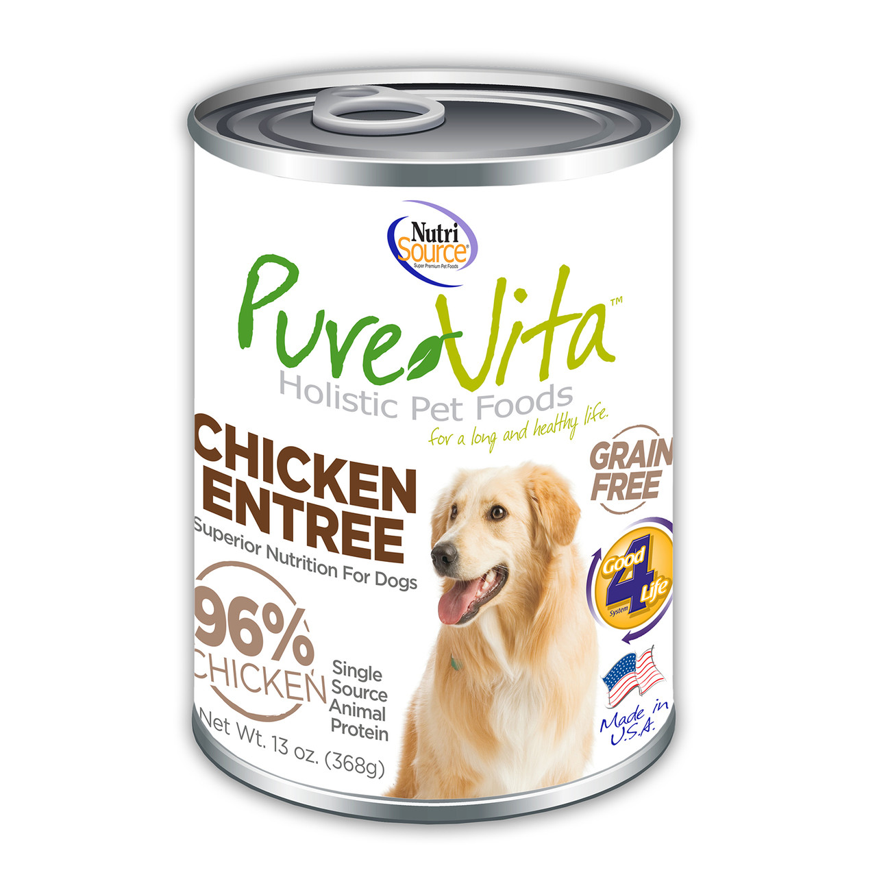 click here to shop PureVita Chicken Entree Canned Dog Food