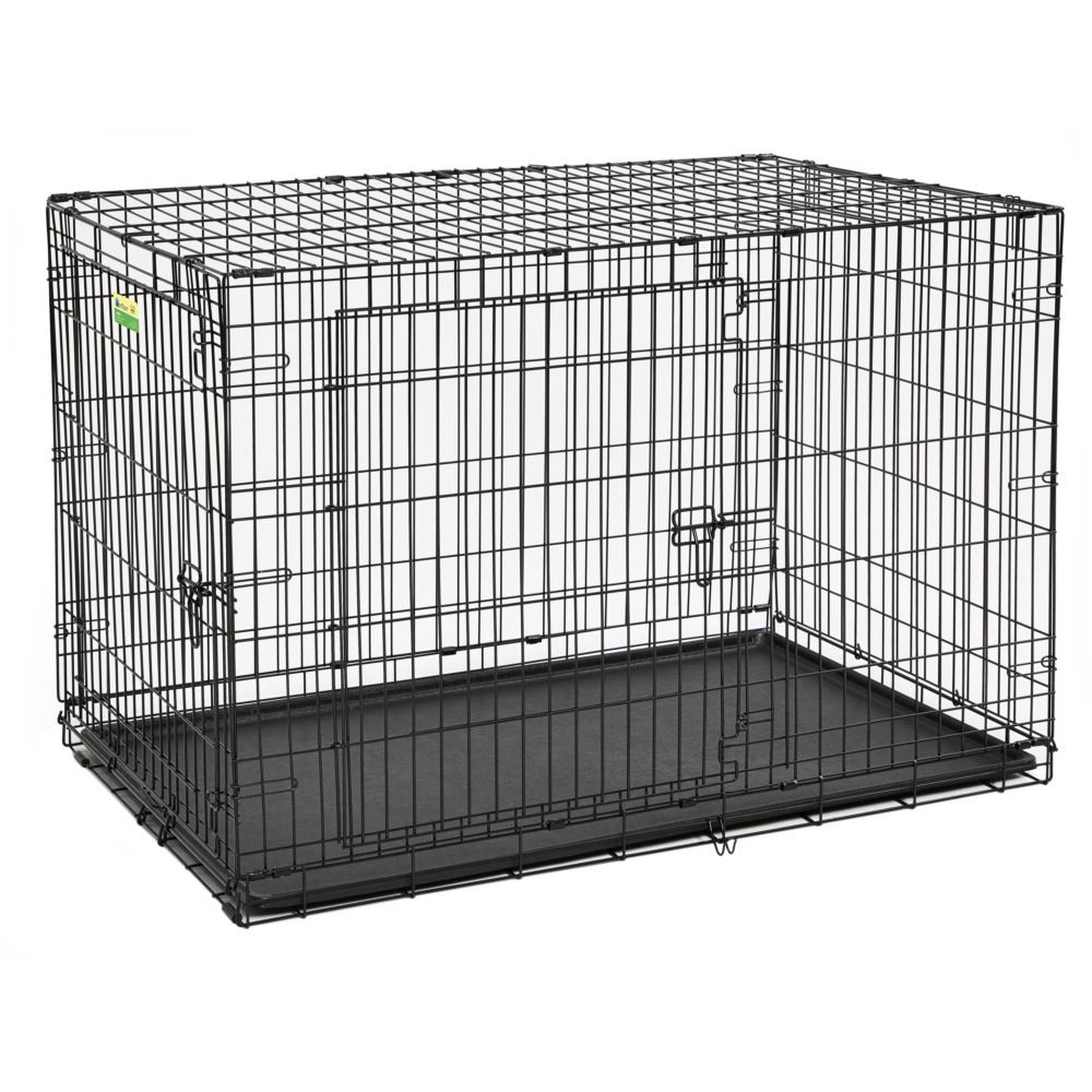 click here to shop MidWest Contour Double Door Dog Crate