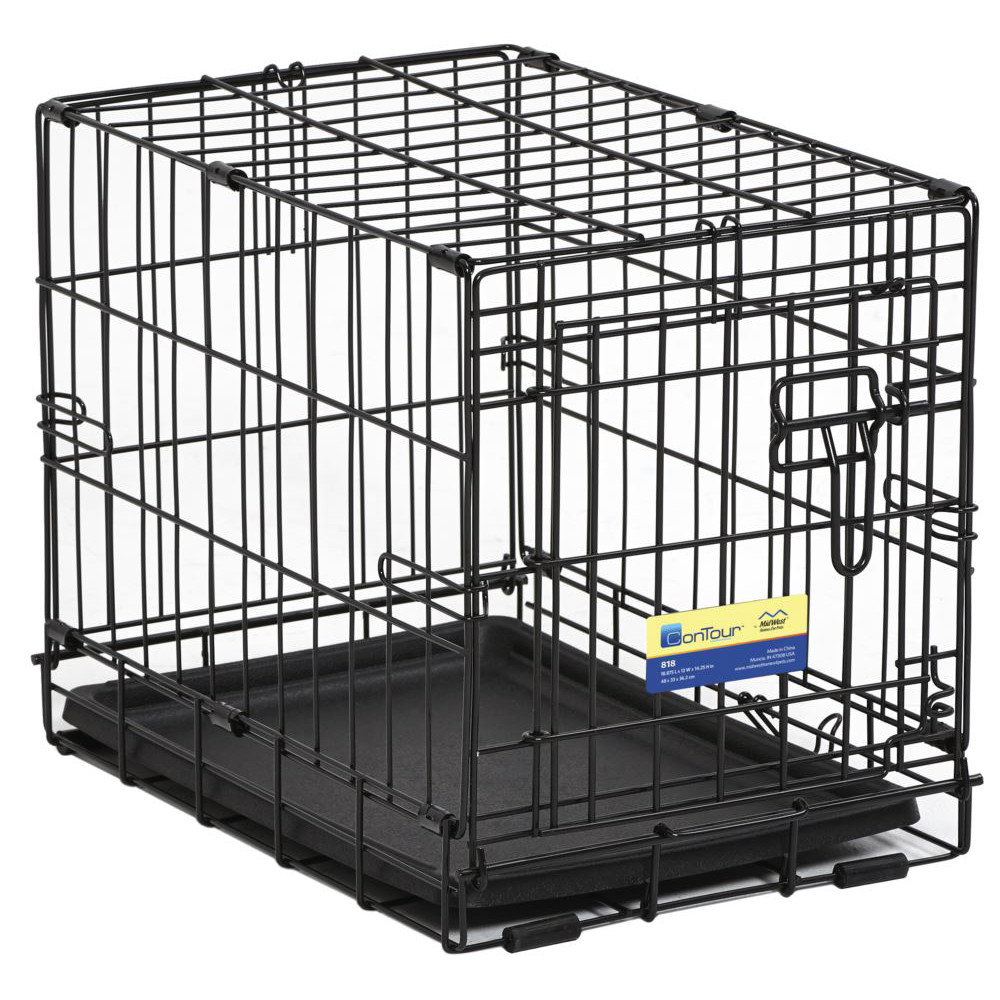 click here to shop MidWest Contour Single Door Dog Crate.