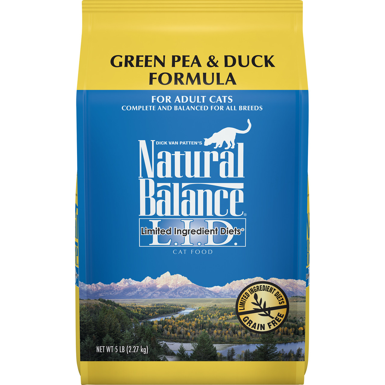 click here to shop Natural Balance Limited Ingredient Diets Green Pea & Duck Formula Dry Cat Food