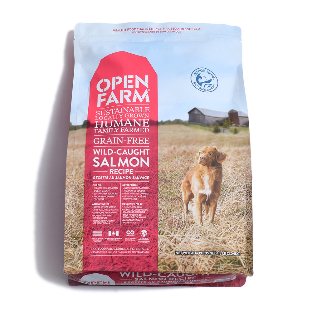 click here to shop Open Farm Wild-Caught Salmon Recipe Dry Dog Food