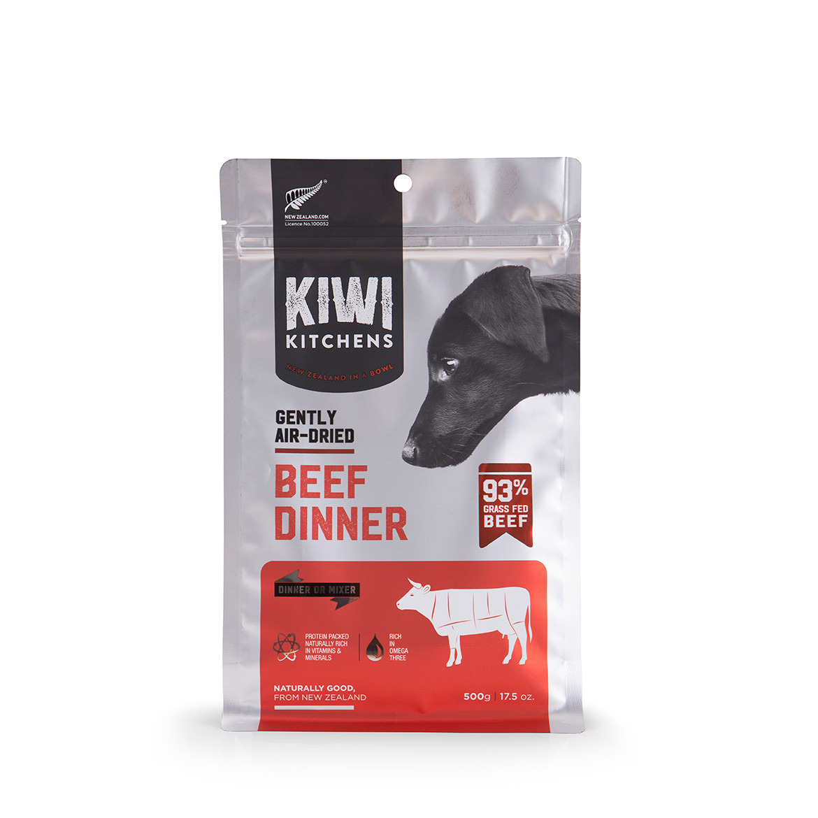 click here to shop Kiwi Kitchens Gently Air-Dried Beef Dinner Dog Food