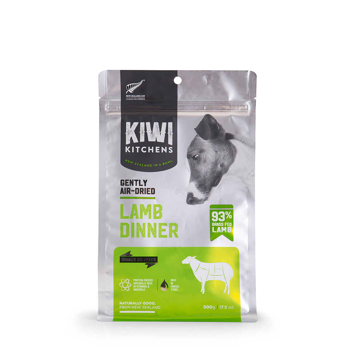 click here to shop Kiwi Kitchens Gently Air-Dried Lamb Dinner Dog Food