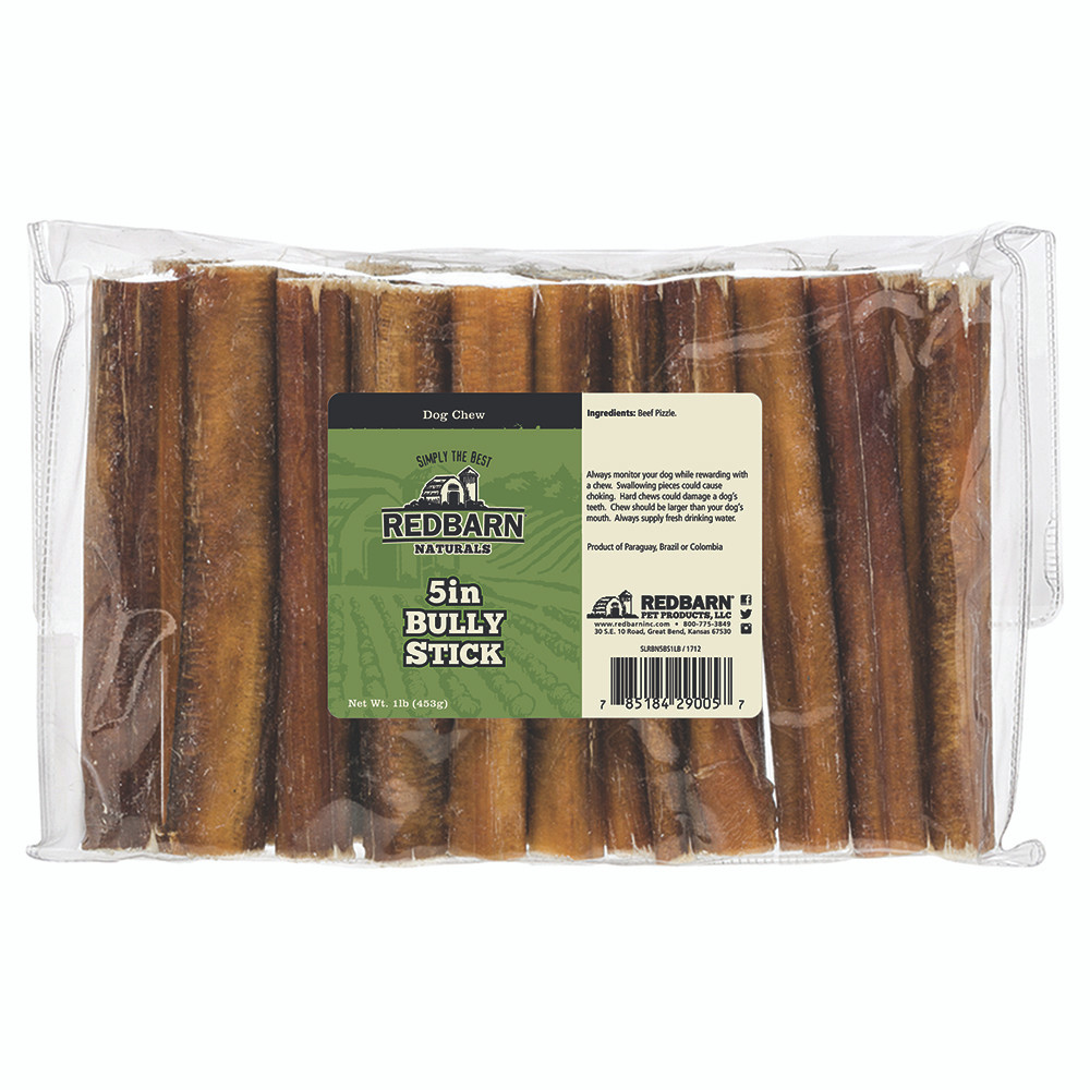 click here to shop Redbarn Bully Sticks (1lb. Bag) Dog Chew Treats