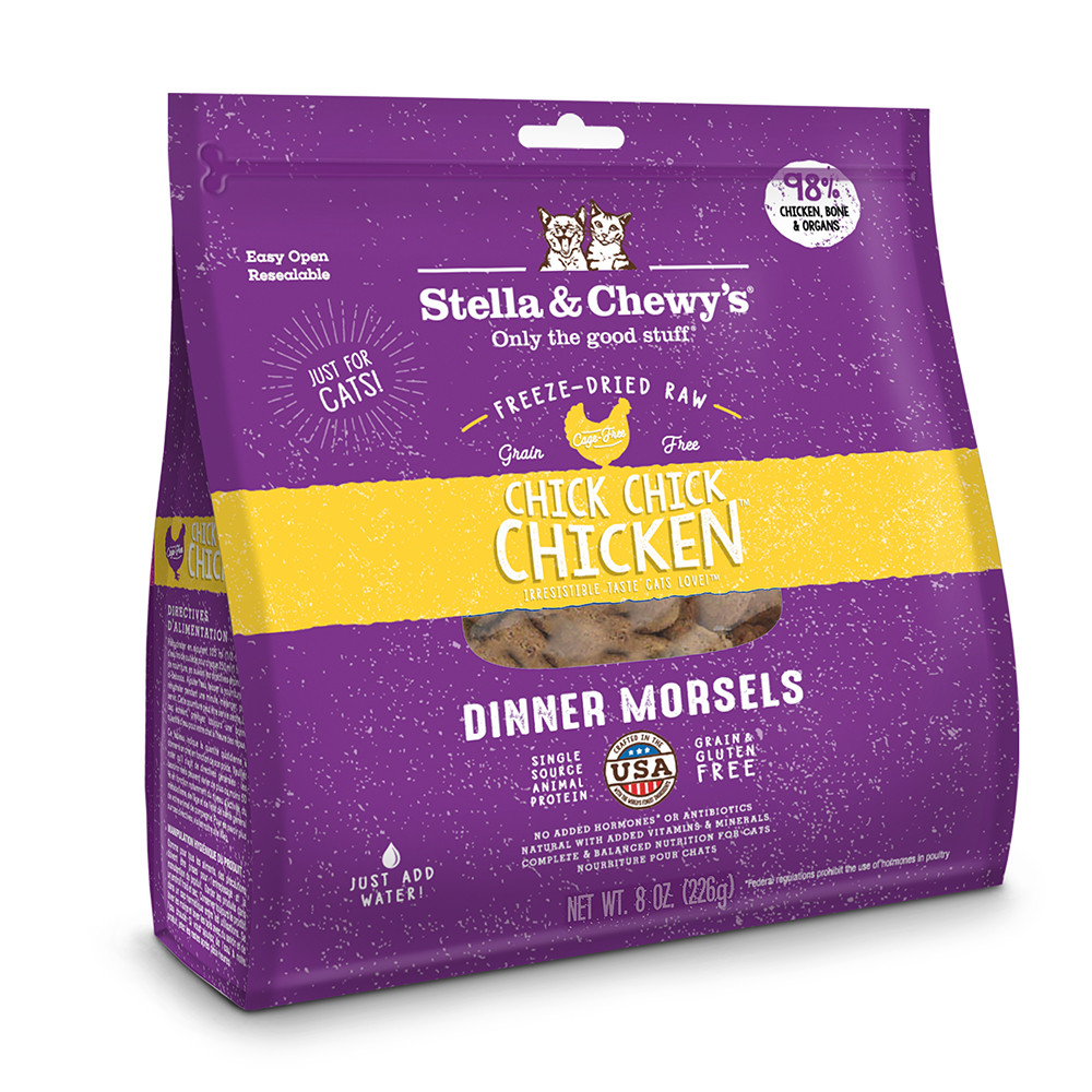 click here to shop Stella & Chewy's Chick, Chick, Chicken Dinner Freeze-Dried Cat Food.