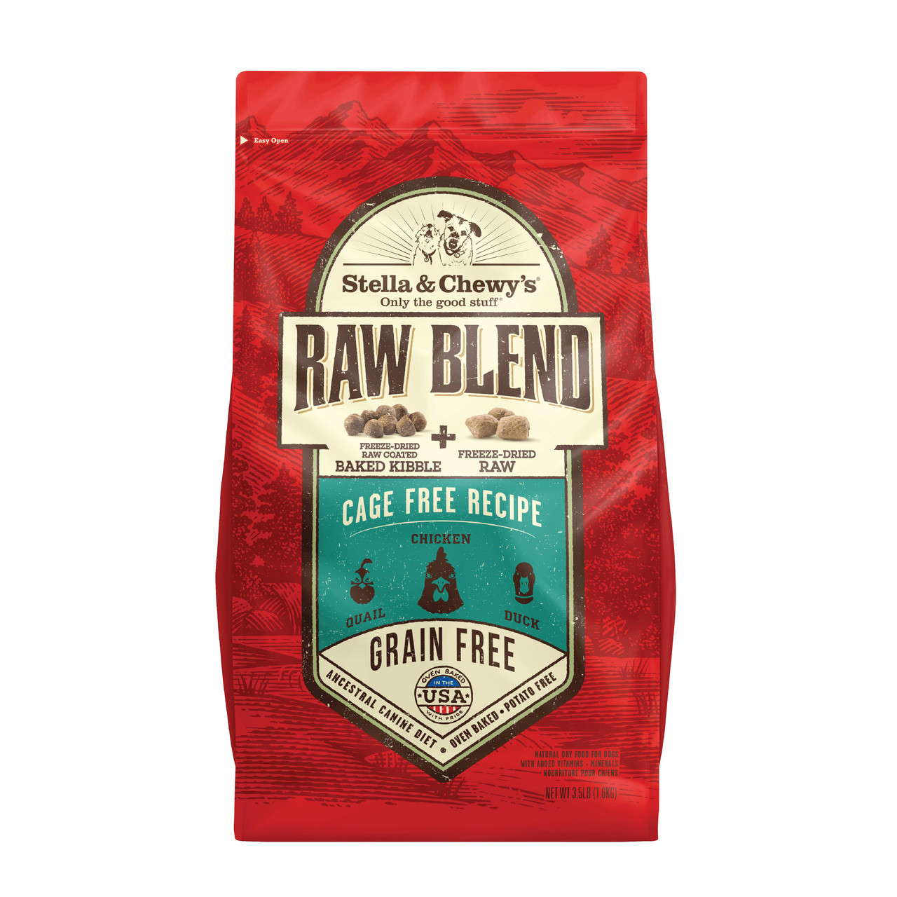 click here to shop Stella & Chewy's Raw Blend Cage-Free Recipe Dry Dog Food