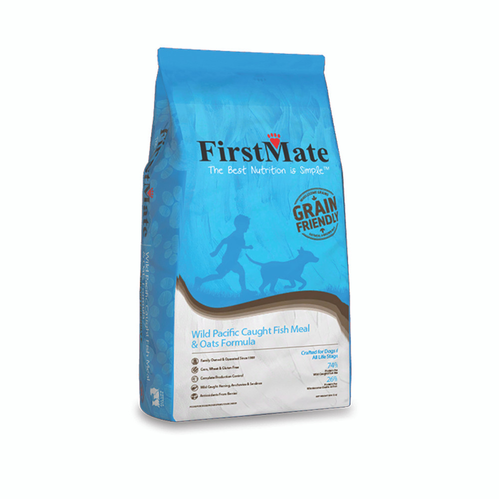 click here to shop FirstMate Wild Pacific Caught Fish & Oats Formula Dry Dog Food