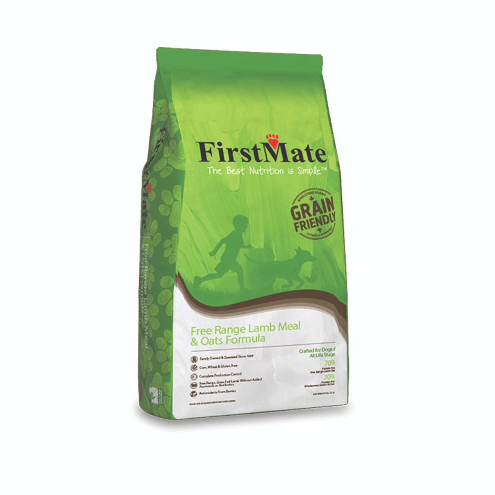 click here to shop FirstMate Free Range Lamb & Oats Formula Dry Dog Food