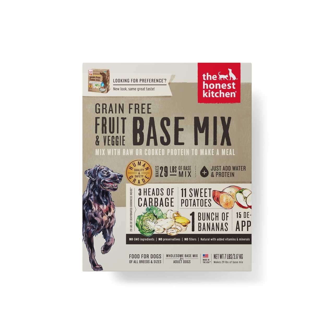 click here to shop The Honest Kitchen Grain-Free Fruit & Veggie Base Mix (PREFERENCE) Dehydrated Dog Food.