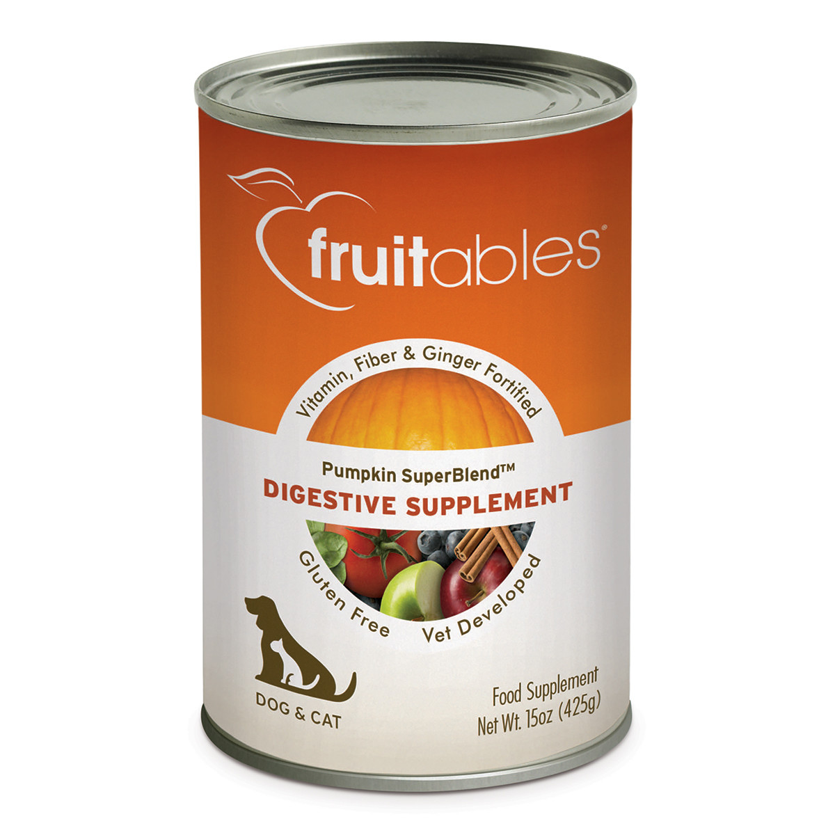 click here to shop Fruitables Pumpkin SuperBlend Digestive Supplement for Dogs & Cats