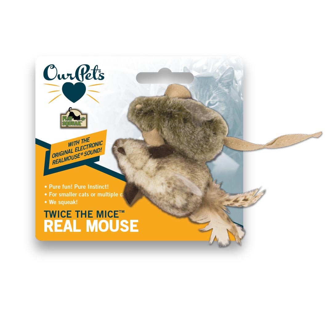 click here to shop OurPets Play-N-Squeak Twice the Mice Catnip Cat Toys