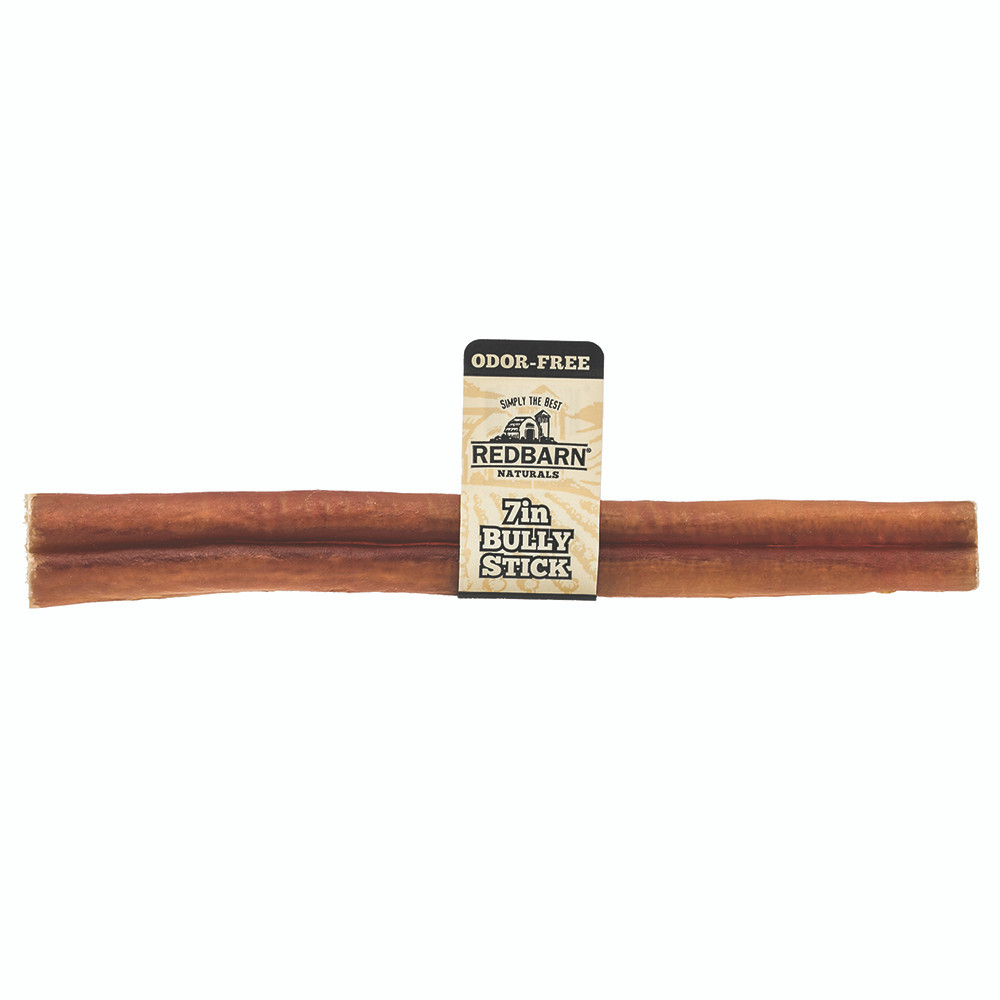 click here to shop Redbarn Odor-Free Bully Stick Dog Chew Treat