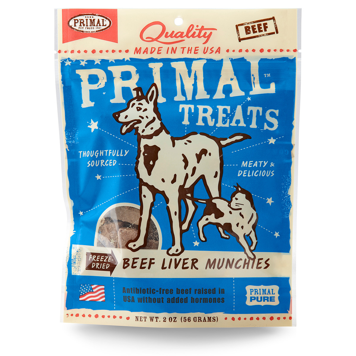 click here to shop Primal Beef Liver Munchies Freeze Dried Dog & Cat Treats .