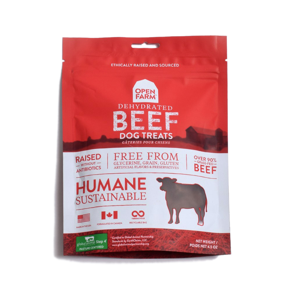 click here to shop Open Farm Dehydrated Beef Dog Treats
