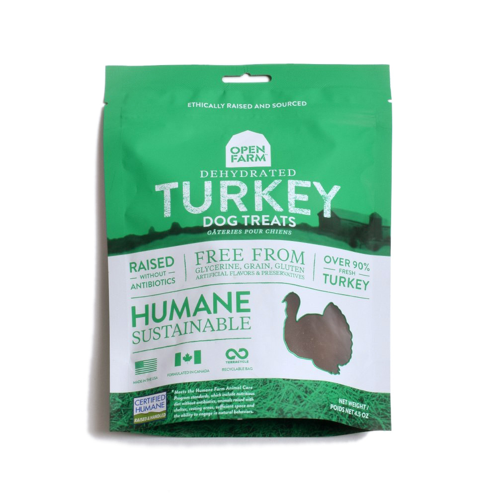 click here to shop Open Farm Dehydrated Turkey Dog Treats