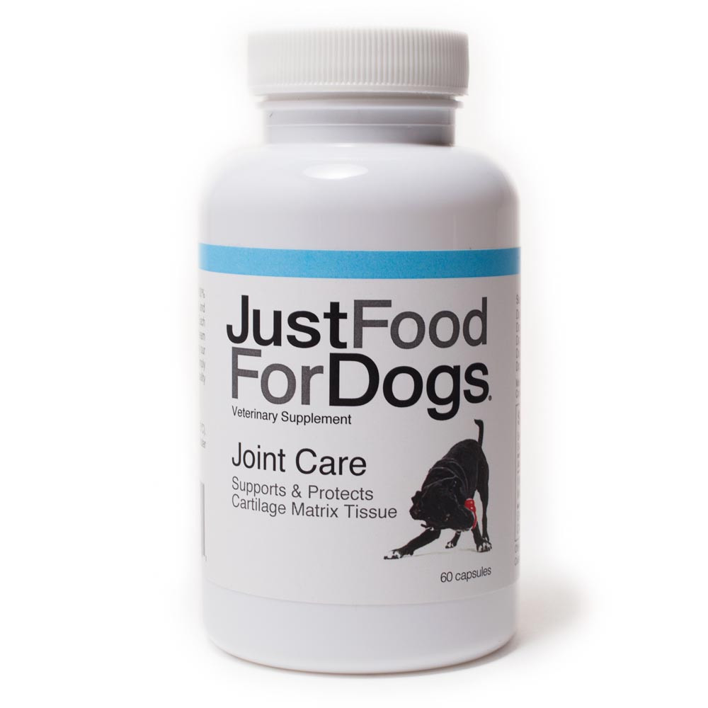 click here to shop JustFoodForDogs Joint Care Supplement for Dogs.