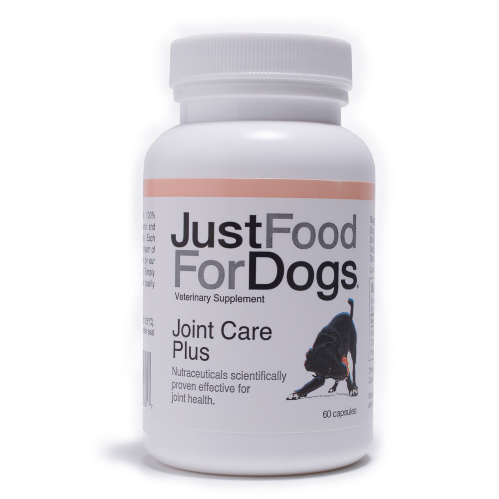 click here to shop JustFoodForDogs Joint Care Plus Supplement for Dogs