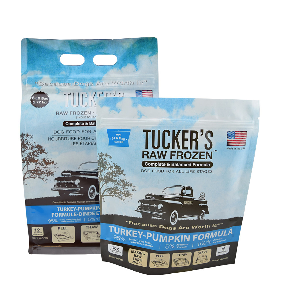 click here to shop Tucker's Raw Frozen Turkey-Pumpkin Recipe Dog Food