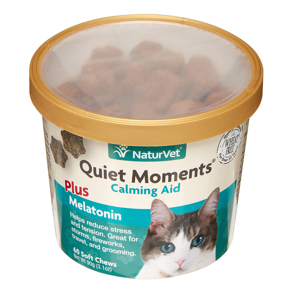 click here to shop NaturVet Quiet Moments Calming Aid Soft Cat Chews.