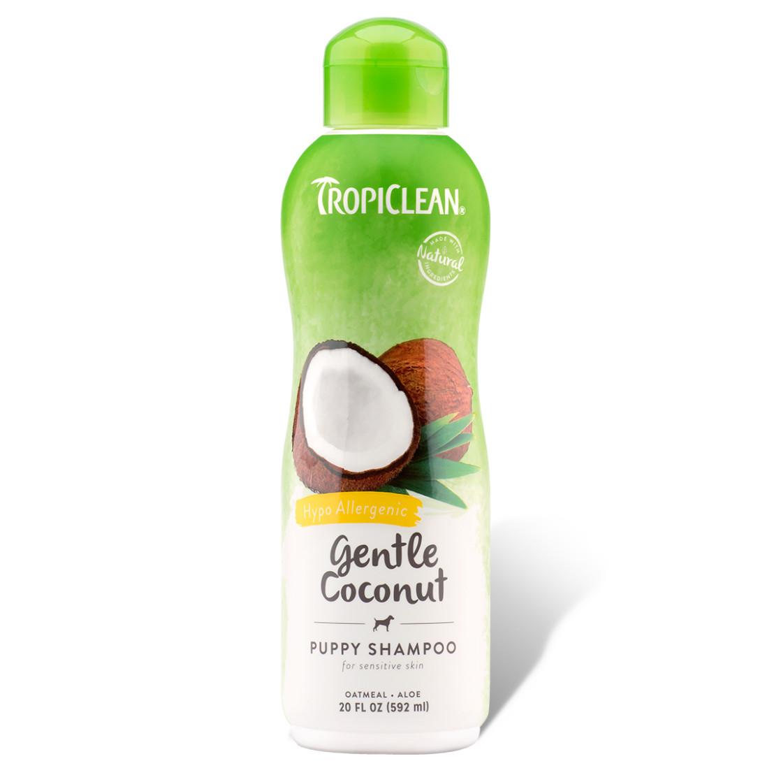 click here to shop TropiClean Gentle Coconut Hypoallergenic Pet Shampoo