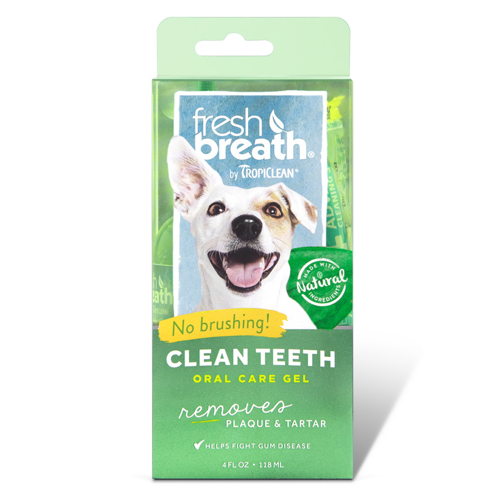 click here to shop Fresh Breath Oral Care Gel for Dogs