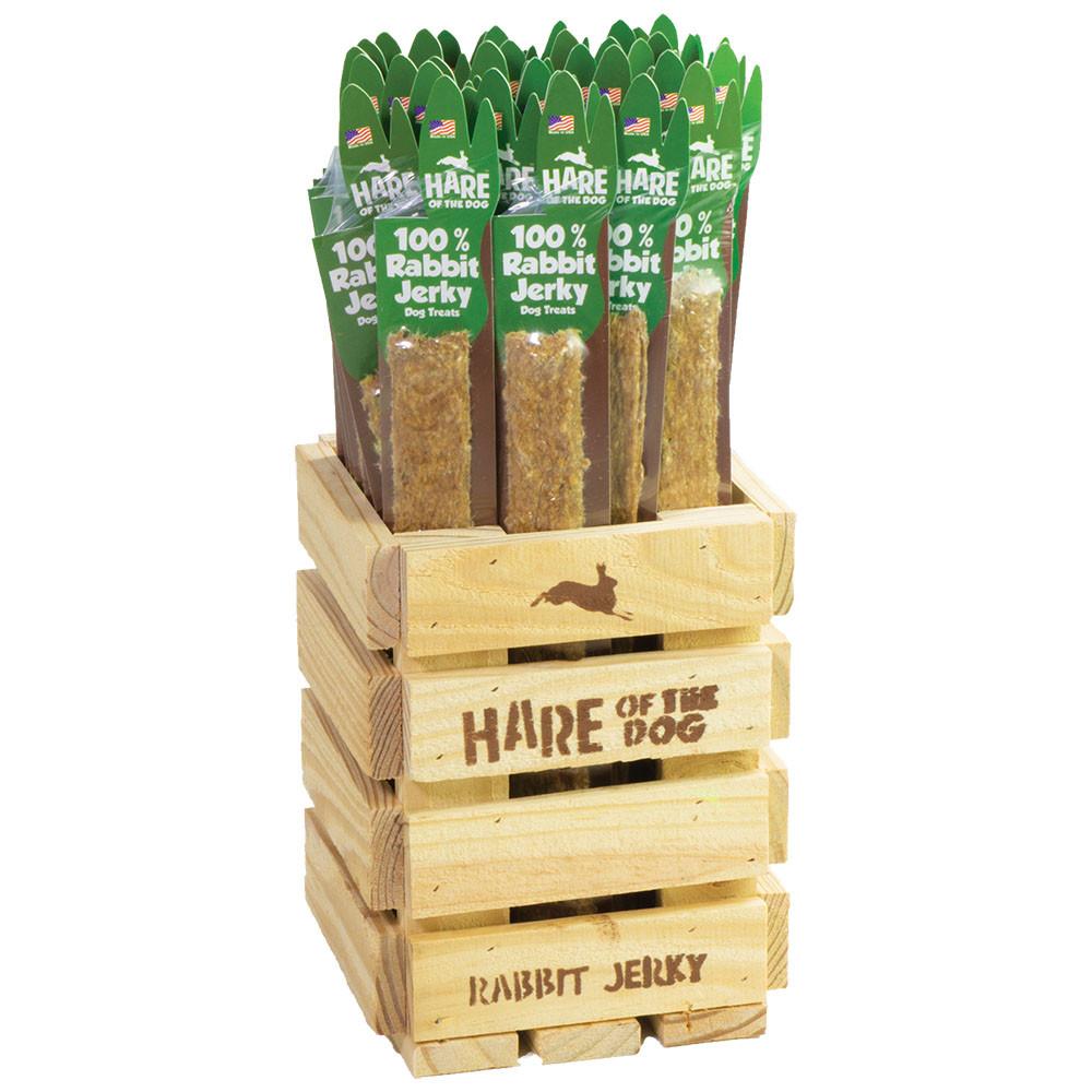 click here to shop Hare of the Dog 100% Rabbit Jerky Sticks Dog Treats