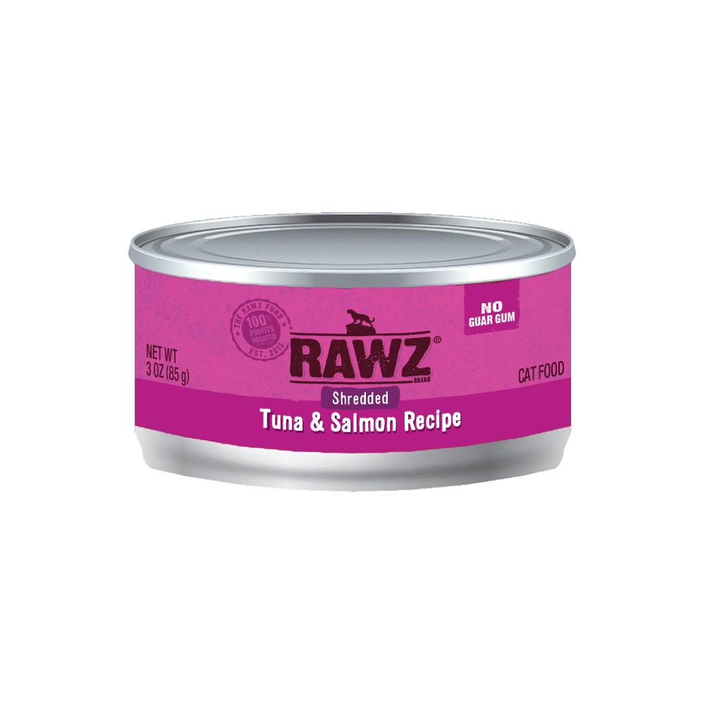 click here to shop RAWZ Shredded Tuna & Salmon Recipe Adult Canned Cat Food
