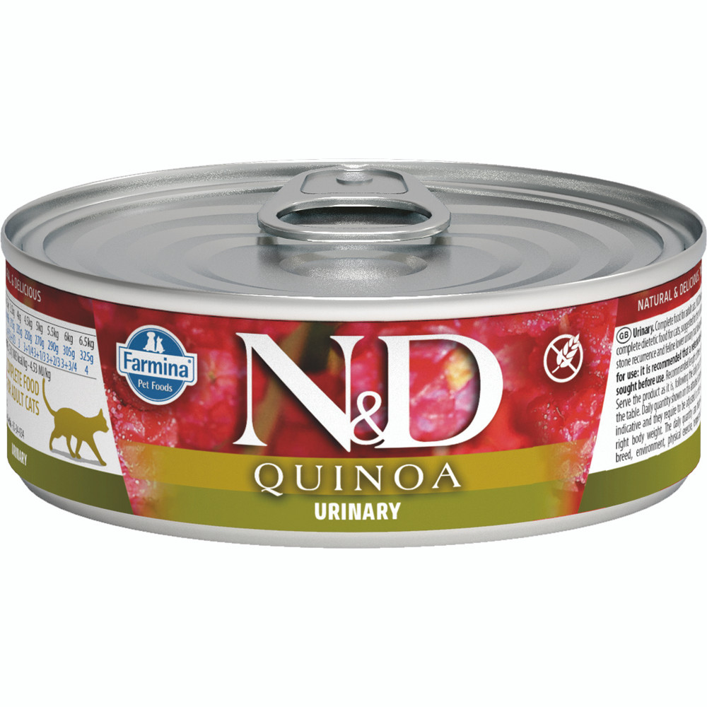 click here to shop Farmina N&D Quinoa Urinary  Adult Canned Cat Food