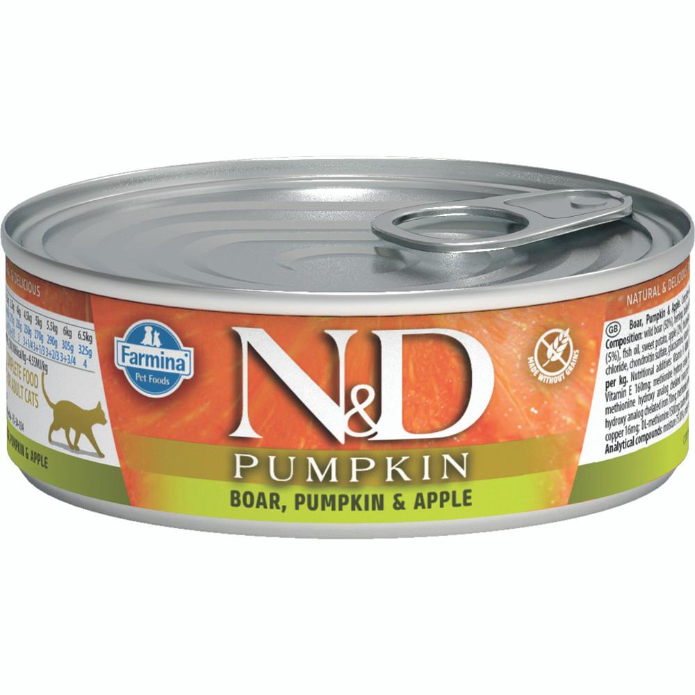 click here to shop Farmina N&D Pumpkin Boar, Pumpkin & Apple  Adult Canned Cat Food
