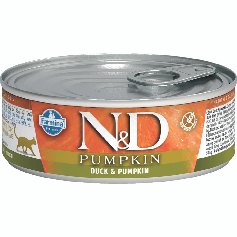 click here to shop Farmina N&D Pumpkin Duck & Pumpkin Adult Canned Cat Food