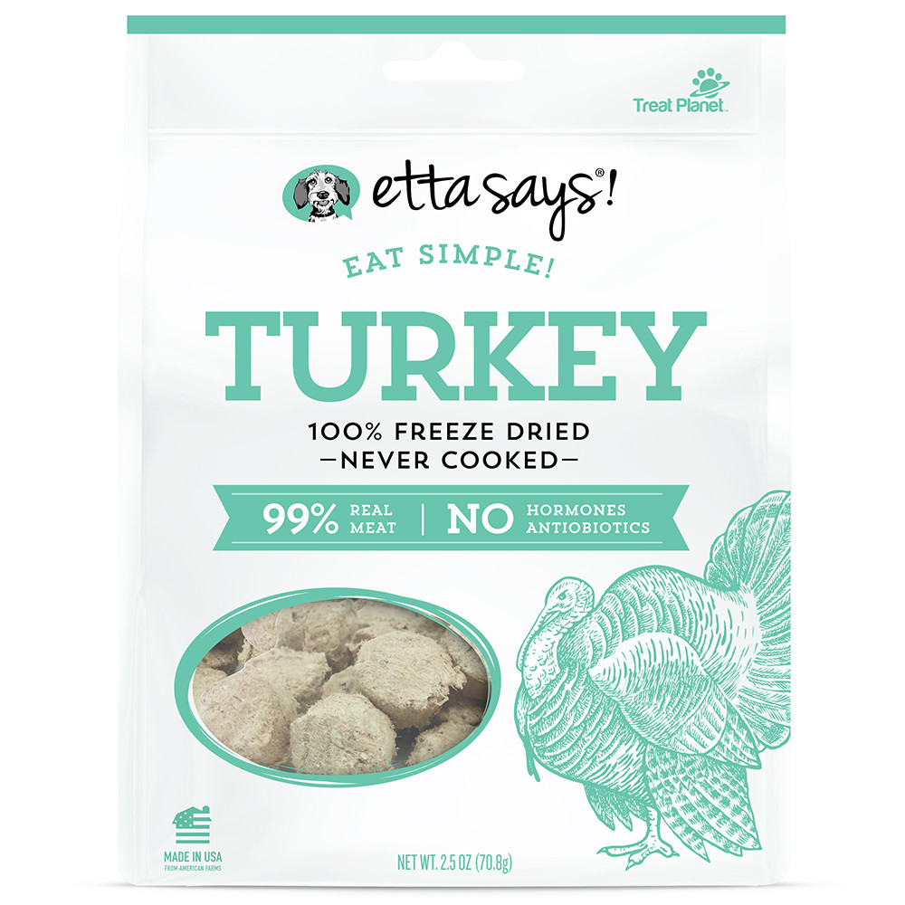 click here to shop Etta Says! Eat Simple! Turkey Dog Treats