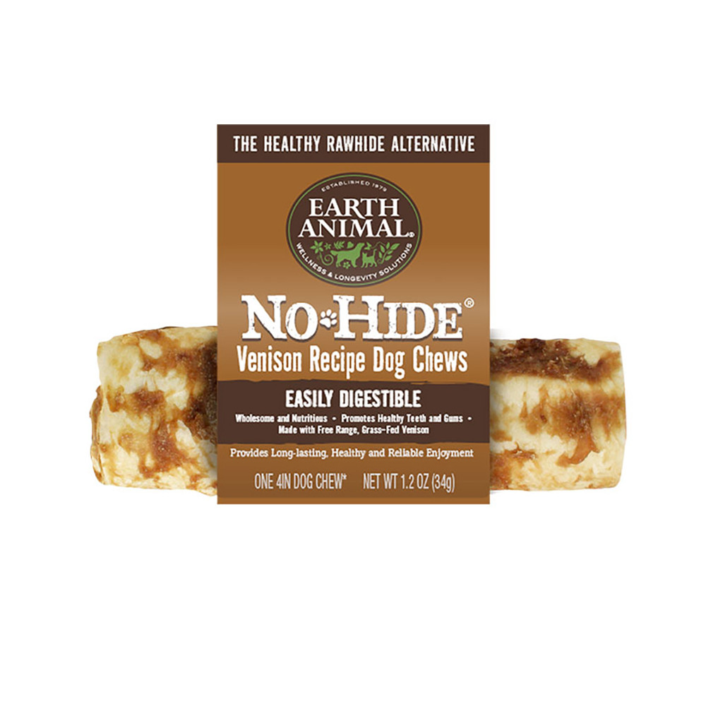 click here to shop Earth Animal No-Hide Venison Dog Chew Treat