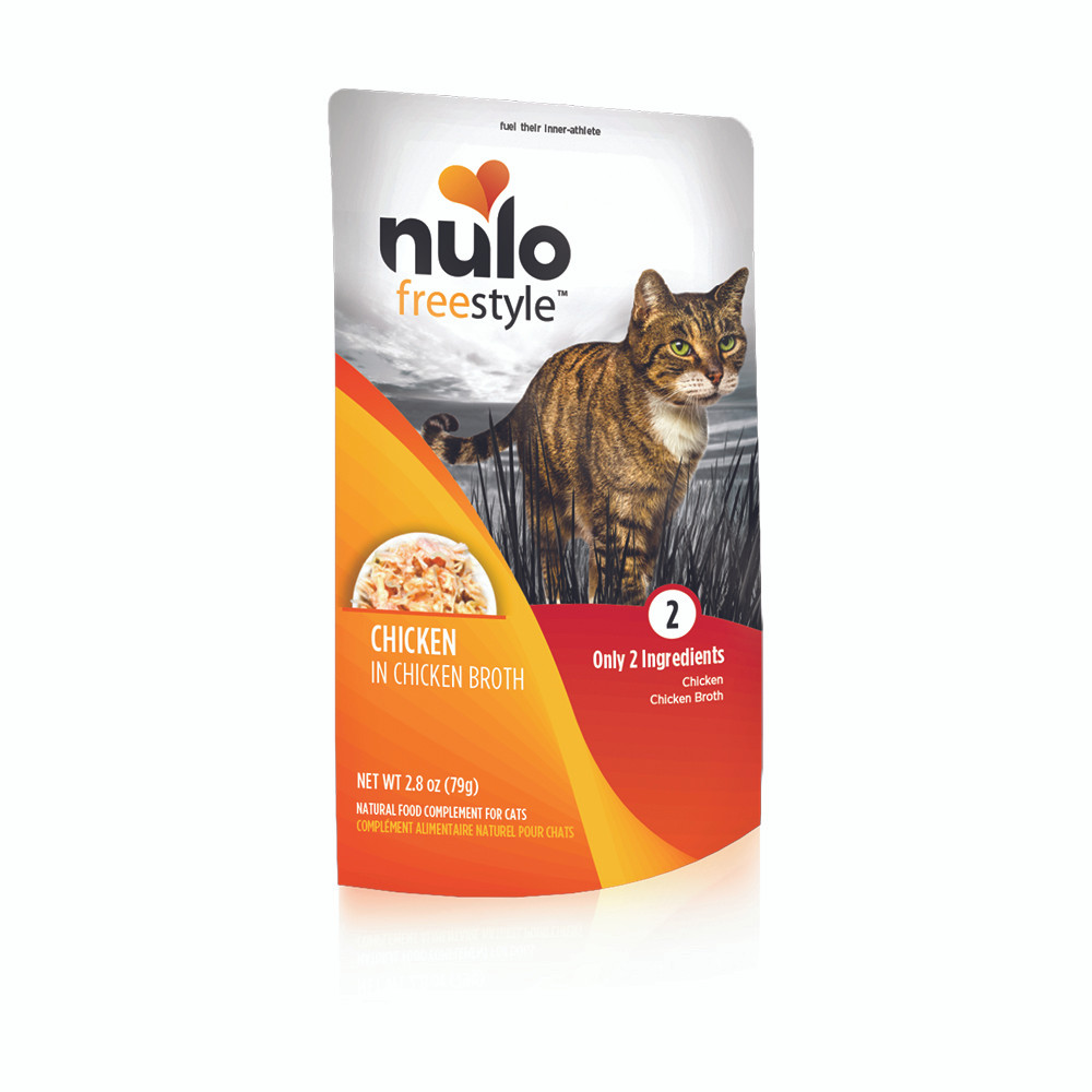 click here to shop Nulo Freestyle Chicken in Broth Cat Food Pouch
