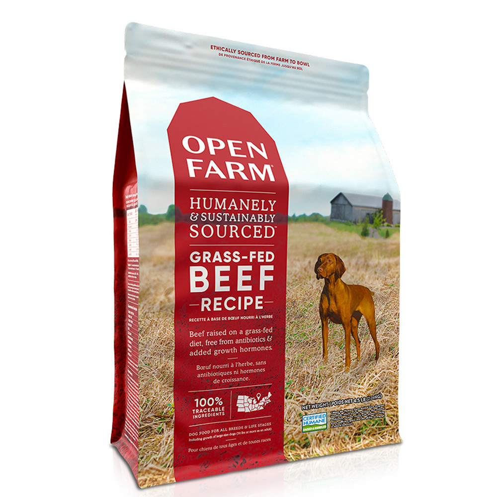 click here to shop Open Farm Grass-Fed Beef Dry Dog Food.