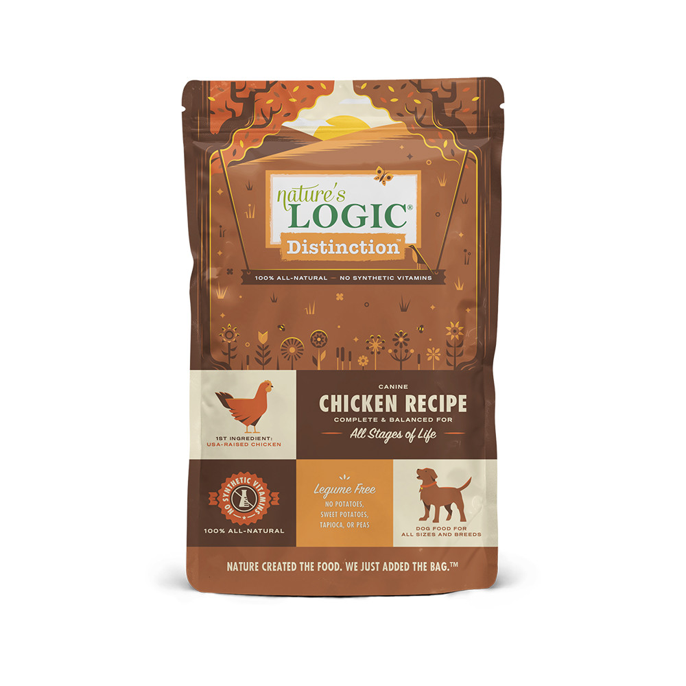 click here to shop Nature's Logic Distinction Chicken Recipe Dry Dog Food