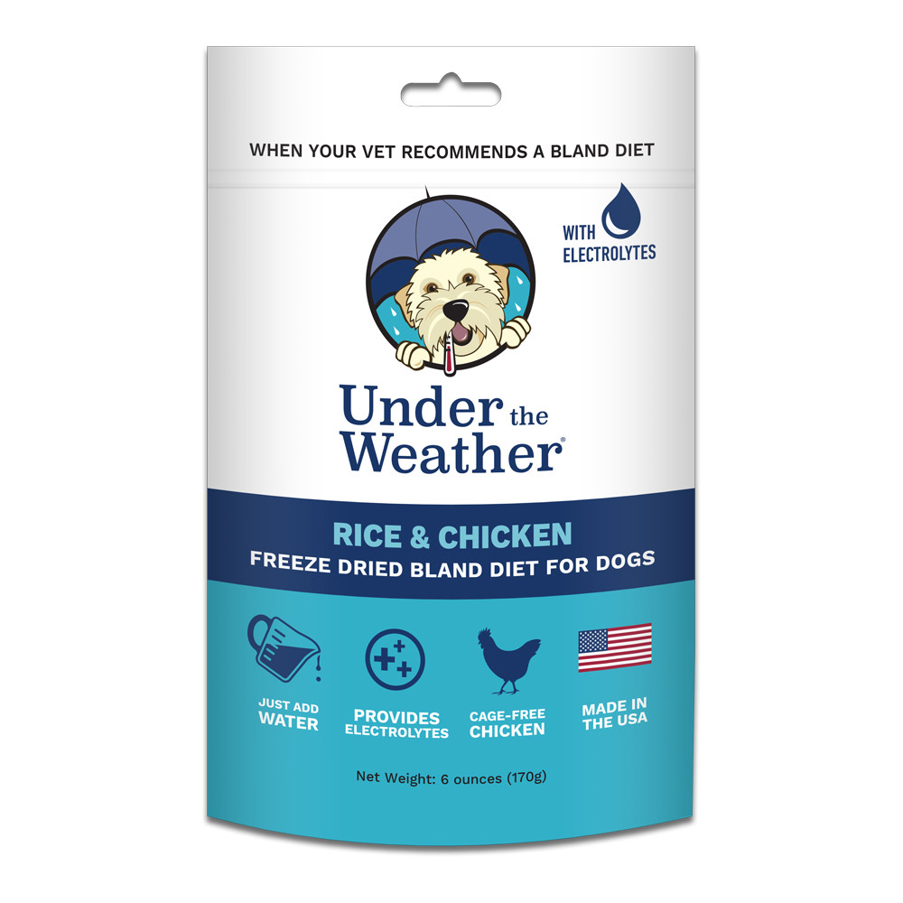 click here to shop Under The Weather Rice & Chicken Freeze Dried Bland Dog Food
