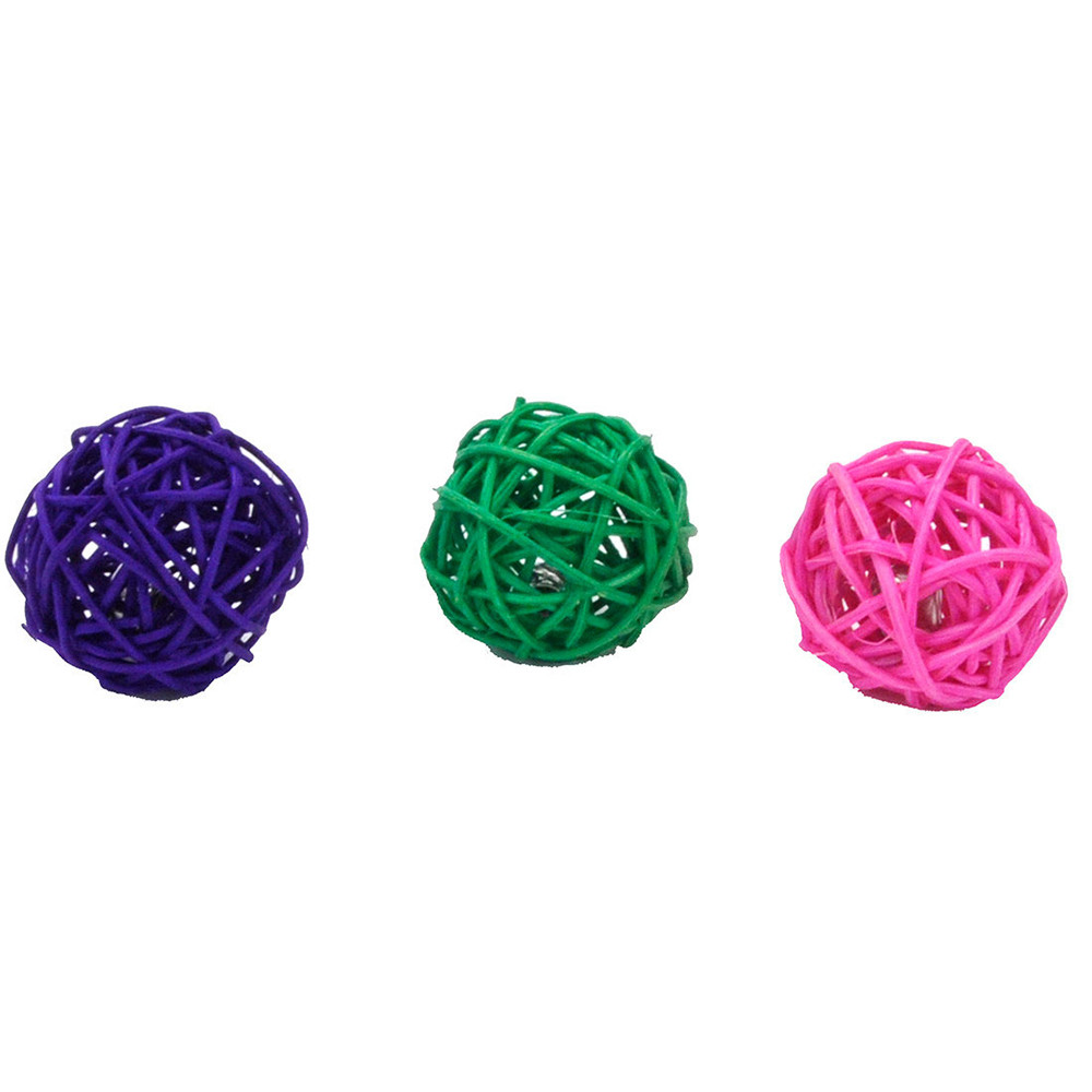 click here to shop Turbo Wicker Ball Cat Toy, Assorted