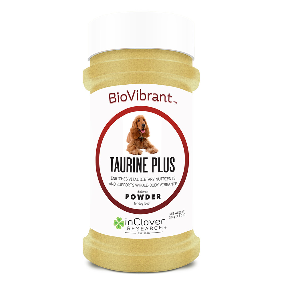 click here to shop InClover BioVibrant Taurine Plus Shake-On Powder for Dog Food