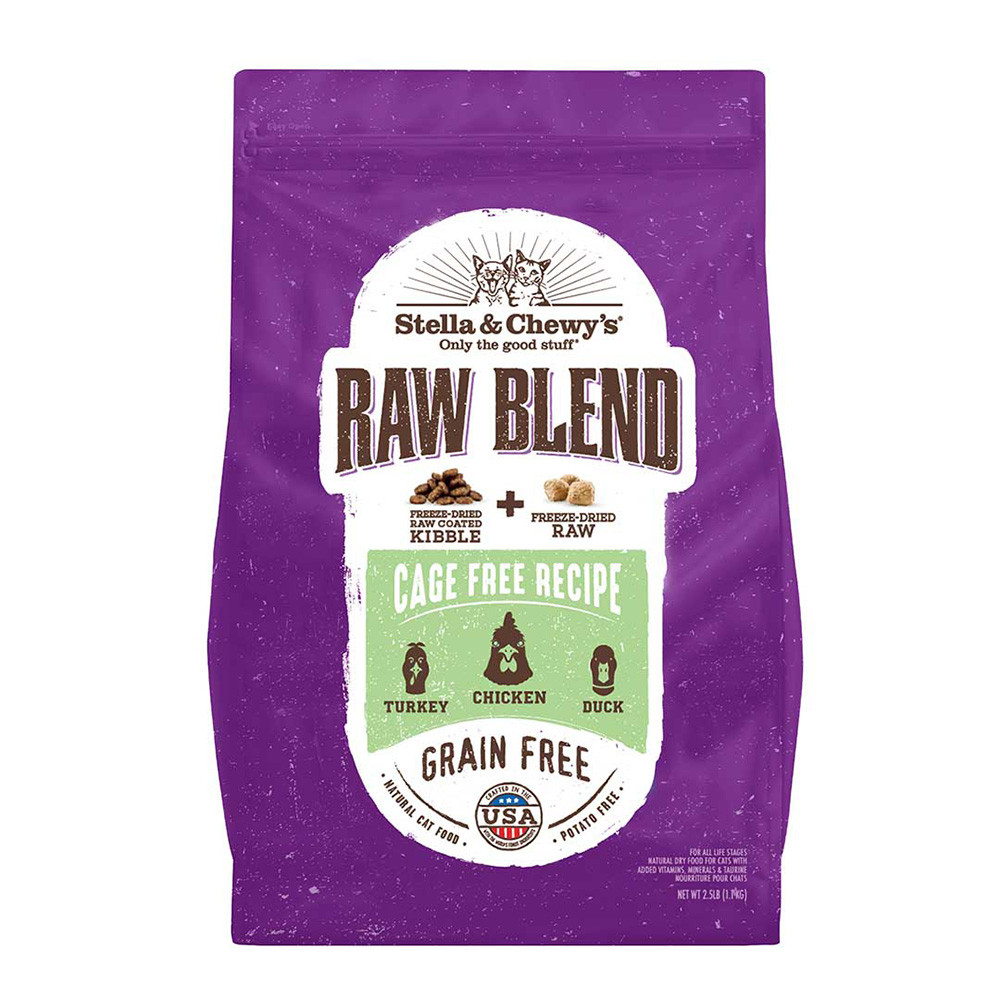 click here to shop Stella & Chewy's Raw Blend Cage Recipe Dry Cat Food