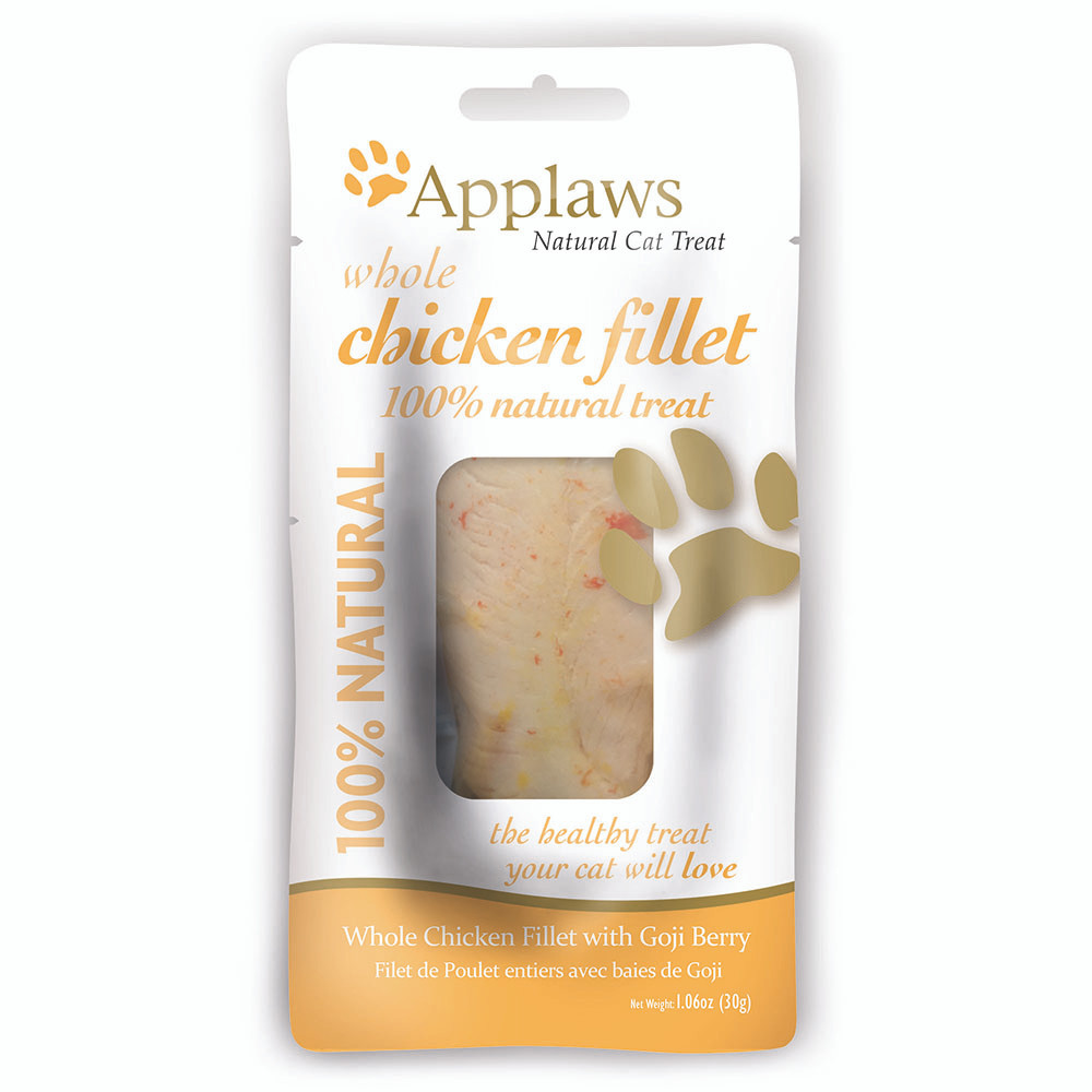 click here to shop Applaws Whole Chicken Fillet Natural Cat Treat