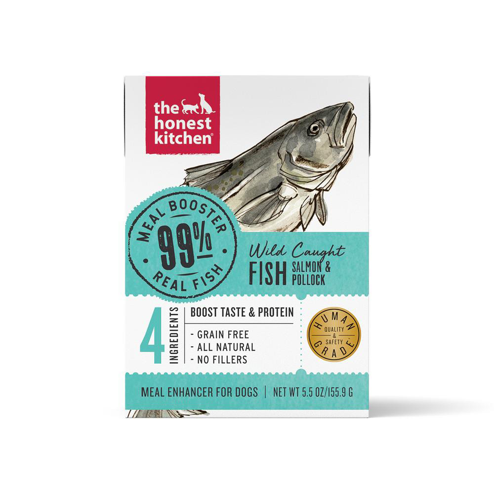 click here to shop The Honest Kitchen Meal Booster 99% Salmon & Pollock Protein Dog Food Topper