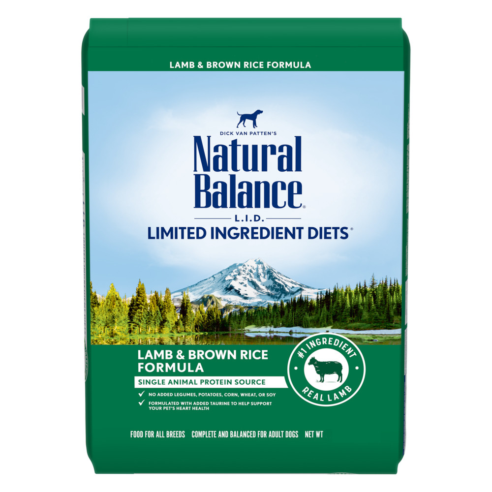 click here to shop Natural Balance Limited Ingredient Diets Lamb  & Brown Rice Formula Dry Dog Food.