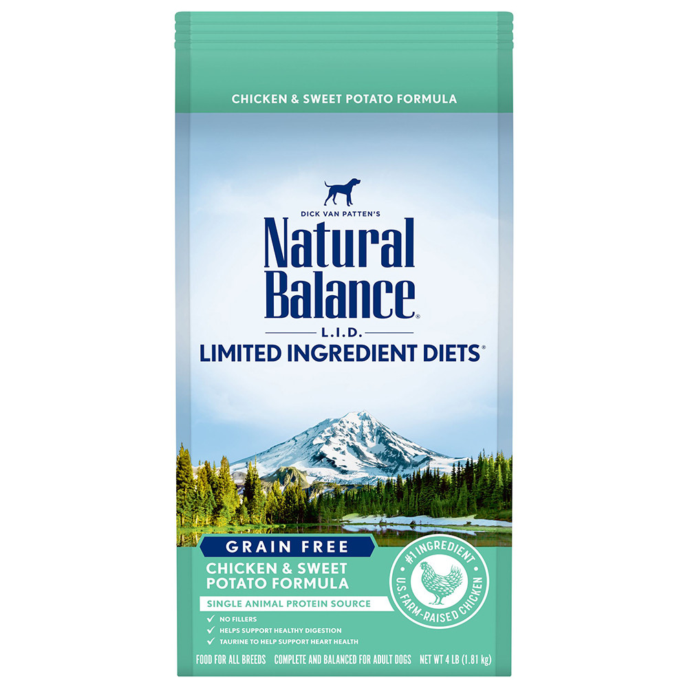 click here to shop Natural Balance Limited Ingredient Diets Chicken & Sweet Potato Formula Dry Dog Food